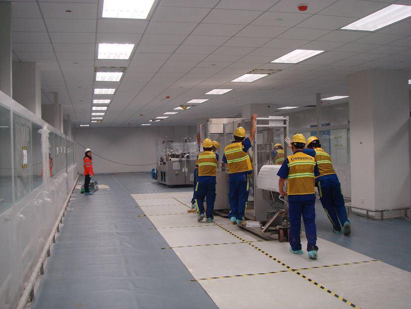 无锡设备搬运公司承接滨湖区某厂房精密设备搬运